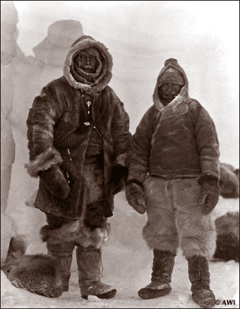 Albert Wegener and Guide in Greenland